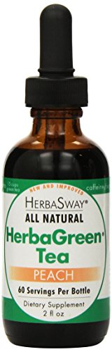 HerbaSway HerbaGreen Tea, Impeccably Peach, 2 Ounce