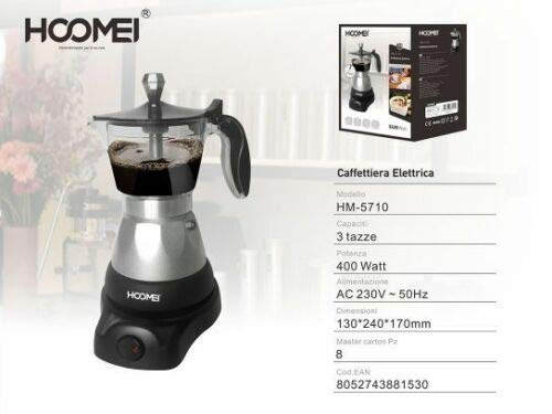 ALL SHOP - Cafetera Moka eléctrica 400 W para 3 Tazas, máquina ...