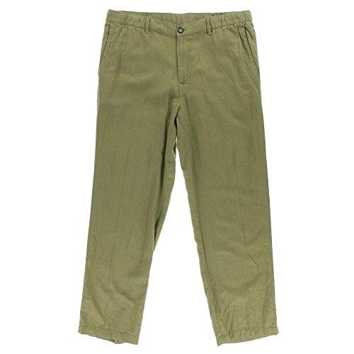 Tasso Elba Mens Linen Blend Drawstring Casual Pant Safari Tan L