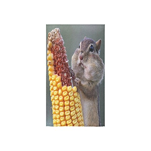 Christmas/New Year Gifts Cute Squirrel Eating Corn Thin Soft Towel 16