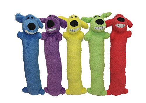 "Multipet Loofa Dog 12"" Plush Dog Toy, Colors May Vary"