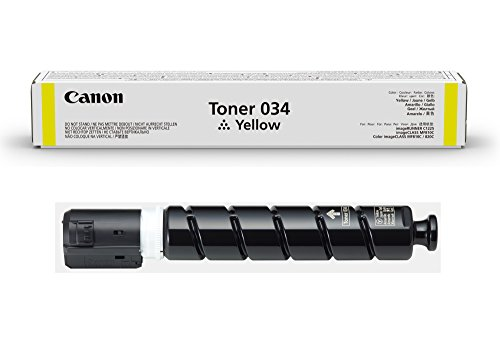 Canon Genuine Toner Cartridge 034 (9451B001) (1-Pack, Yellow), Works with Canon imageCLASS MF820Cdn and MF810Cdn