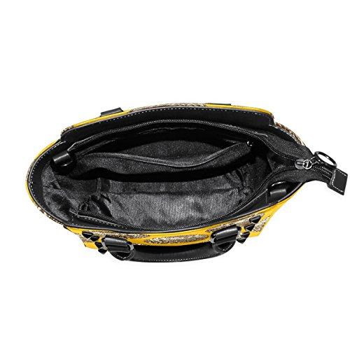 Tote Shoulder Cute Handbags Women's Custom Bags Leather Yellow Hedgehog TIZORAX Hw1qYUx