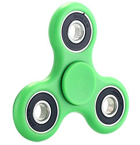 4 PACK Hands Fidget Spinner Toy Stress Reducer – Perfect For ADD, ADHD, Anxiety, and Autism Adult Children – 4 PACK ( Black+Green+Red+Blue)