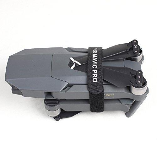 Kingwon 2 Pièces Propeller Holder Stabilizer Transport Protection Accessoires Strap Protector pour DJI Mavic Pro Drone (Noire)