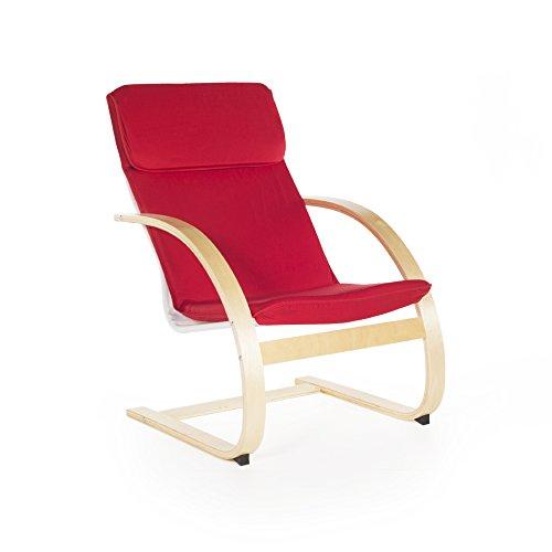 Guidecraft Teachers Rocker Red Chair - School, Living Room Furniture