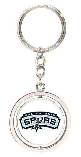 aminco NCAA San Antonio Spurs NBA-SK-741-20 Spinning Keychain, One Size, Multicolor