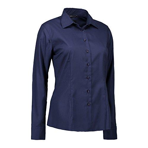 De Id Mujer Camisa Fácil Y Entallada Para Abotonada Azul Planchado Marino q4aZwO
