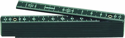 Metrica 19060 Glasfaser-Massstab 1 m, schwarz
