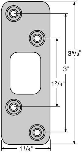 Kwikset 83223 Deadbolt Round Corner Strike, Satin Nickel ()