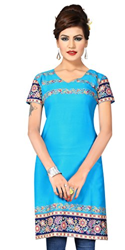 Indian Tunic Top Womens Kurti Printed Blouse India Clothing – Small, L 138