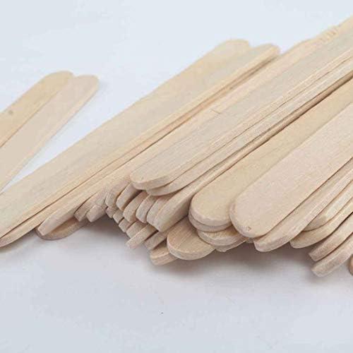 Regard L 50PCS Holz Kaffee-Tee-Rührwerke Mischer Craft Stick/Paddle Pop Sticks Einweg
