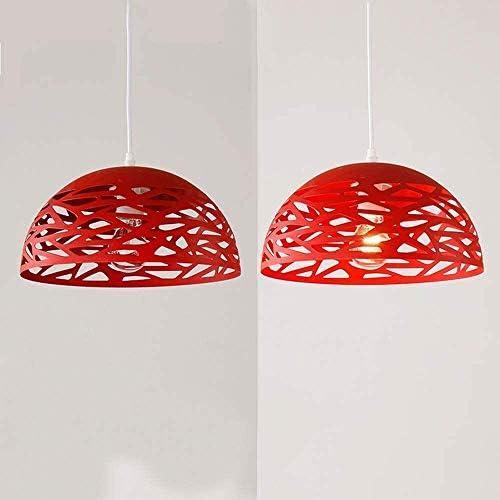 Risjc Weinlese-Metall runde hängende Lampe Retro E27 Industriehängeleuchten Höhenverstellbare Hängelampe Esszimmer Büro Wohnzimmer Deckenleuchte Red Ø30cm