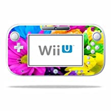 Mightyskins Protective Vinyl Skin Decal Cover for Nintendo Wii U GamePad Controller wrap sticker skins Colorful Flowers