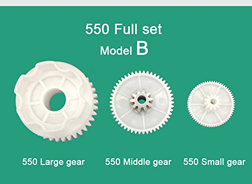 WSJ 550 Full Set of Motor Gear Box Large Gear Middle Gear Small Gear for Kids Ride On Car,550 Gearbox Accessory Children Electric Ride on Toys Replacement Parts