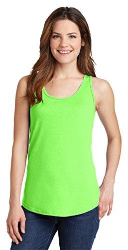 Port & Company Womens 100% Cotton Tank Top LPC54TT -Neon Green L ()