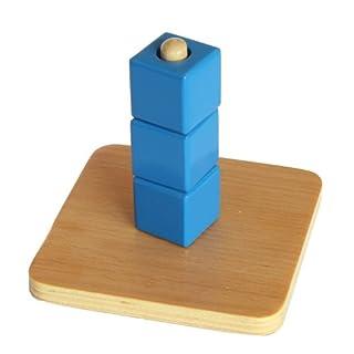 Montessori Cubes on Vertical Dowel