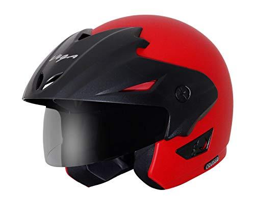 Vega Cruiser W/P Open Face Helmet  Dull Red, Medium