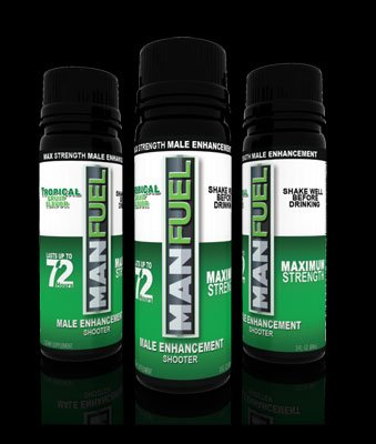 MANFUEL ALL NATURAL MALE ENHANCEMENT ENERGY LIBIDO STAMINA BOOSTER - TROPICAL FRUIT FLAVOR - MALE ENHANCEMENT SHOOTER - (3 PACK)