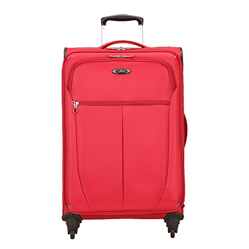 Skyway Mirage Superlight 24-Inch 4 Wheel Expandable Upright, Formula 1 Red, One Size