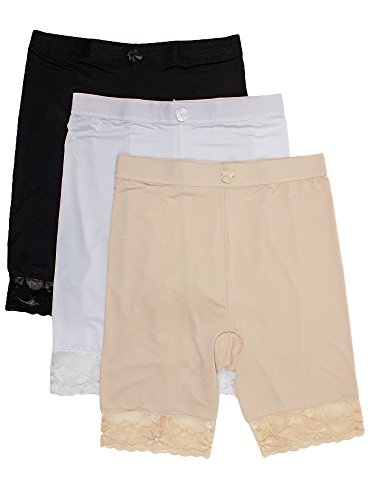 Shorts Smooth (Barbra's 3 Packs Shapewear Smooth Hi-Waisted Under Skirt Slip Short Panties(2XL))