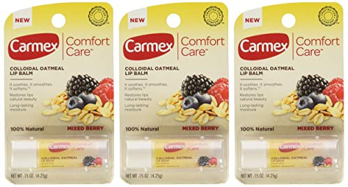 (Carmex Comfort Care Colloidal Oatmeal Lip Balm, Mixed Berry .15oz (Pack of)