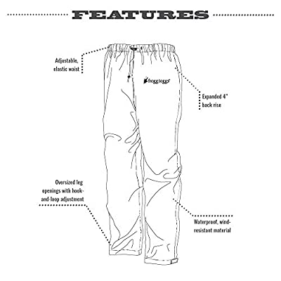 Frogg Toggs Pro Action Waterproof Rain Pant: Clothing