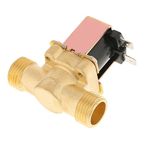 Solenoid Valve, 12V Electric Solenoid Valve, 0.02-0.8Mpa Precise and Reliable Brass Solenoid Valve, Suitable for Water, High-End Water Heaters, Water Industry and Other Fields