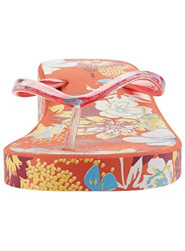 oodji Ultra Mujer Zapatillas Playeras Estampadas de Suela Gruesa Naranja (4149F)