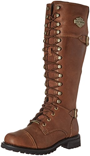 Harley-Davidson Women's Beechwood Work Boot, Brown, 7 M US