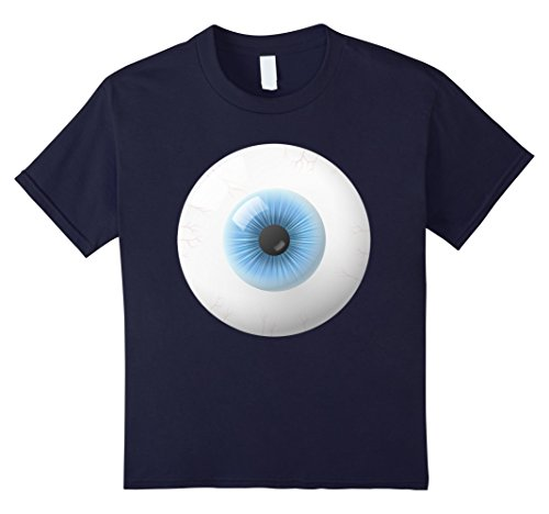 Giant Monster Costumes (Kids Giant Eyeball Costume Shirt Creepy Scary Pupil Iris Veins 12 Navy)