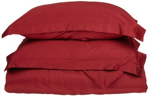 Brushed Polyester Cover (1500 Series 100% Brushed Microfiber Twin/Twin XL Duvet Cover 2-pc Set Solid, Burgundy - Super Soft and Wrinkle)