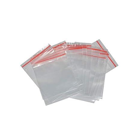 Deanyi 100 PCS Pequeño Claro cremallera bolsas de plástico ...