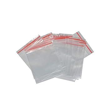Naisicatar 100 PCS Pequeño Claro cremallera bolsas reajustables Ziplock bolsas de plástico de almacenamiento de tarjetas de regalo de la joyería de ...