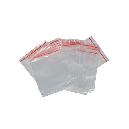 Bustine con chiusura ermetica R SODIAL 100 Pz 12cm x 8cm Trasparente Semi Di Piante Imagazzinamento Richiudibile Guarnizione Sacchetto