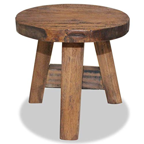 vidaXL Solid Reclaimed Wood Stool Rustic Seat Footstool Rest Couch Sofa Side