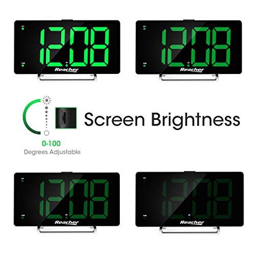 Large Alarm LED Alarm Port 0-100 Seniors Big Number Green Alarm for Bedrooms
