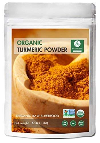 - Premium Quality Organic Turmeric Root Powder with Curcumin (1lb), Gluten-Free & Non-GMO (16 ounces) | Indian Seasoning.
