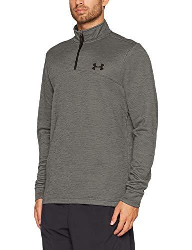 Under Armour Men's Armour Fleece Lightweight  Zip,Stealth Gray /Black, Large