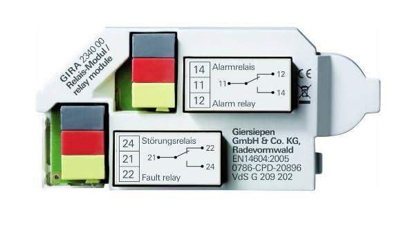 GIRA 234000 accesorio para detector - Alarmas y Accesorios para detectores (Módulo de relé, Detector de humos, 1 pieza(s), CE): Amazon.es: Bricolaje y ...