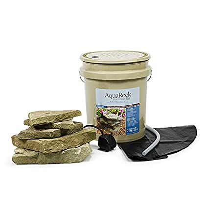 Aquascape AquaRock Water Fountain Kit For Landscape And Garden, Bluestone,  Includes Real Stone,