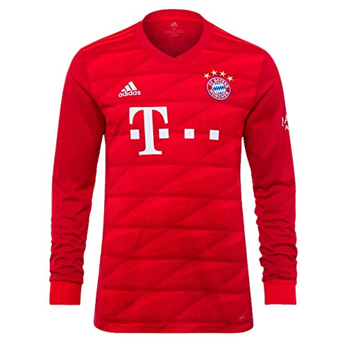 (adidas 2019-2020 Bayern Munich Home Long Sleeve Football Soccer T-Shirt Jersey)