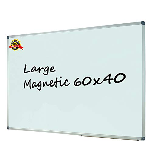 Lockways Magnetic Dry Erase White Board - 60 X 40 Inch, Whiteboard Sliver Aluminium Frame U10314161726 for Office & School
