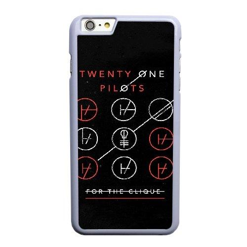 Coque,Apple Coque iphone 6 6S plus (5.5 pouce) Case Coque, Generic Twenty One Pilots Blurryface Cover Case Cover for Coque iphone 6 6S plus (5.5 pouce) blanc Hard Plastic Phone Case Cover