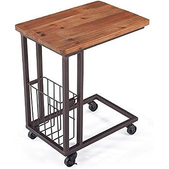 Amazon Com Barleyhome End Table Height Adjustable Snack