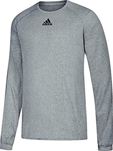 adidas Climalite Long Sleeve Tee Grey L
