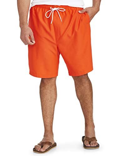 Amazon Essentials Men's Big & Tall Quick-Dry Swim Trunk fit by DXL, Orange, 2XL