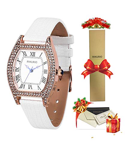 Women Ladies Wrist Watch Classic Waterproof Design with Alloy Case and Leather Strap