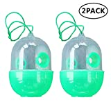 2 Pack Reusable Wasp Trap - Outdoor Wasp Killer Insect Catcher Honey Bee Trap- Effectively Lures for Yellow Jackets, Bees, Wasps, Hornets, Bugs and More