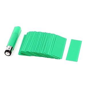 50pcs 17mm 10.8mm diámetro de PVC de calor Tubería del encogimiento del verde de 1 x batería AAA